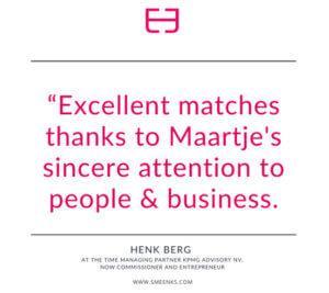 Henk Berg recommends Smeenk's Personal Assistants
